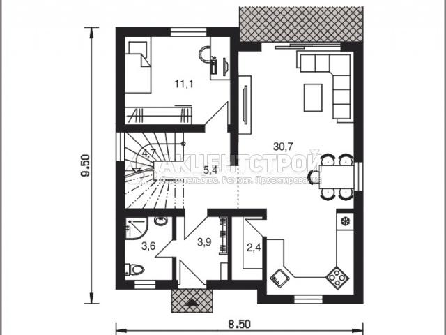 Дом из кирпича 104 кв.м.