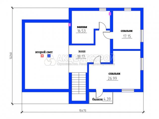 Дом из газобетона 345 кв.м.
