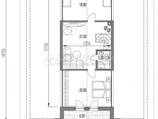 Дом из газобетона 252 кв.м.