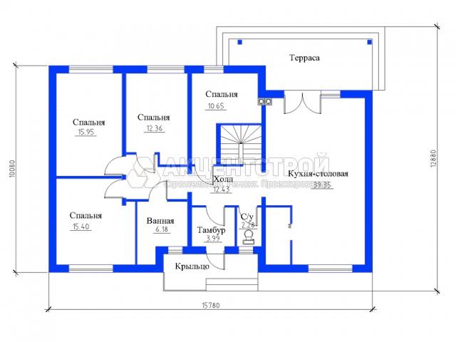 Дом из газобетона 172,30 кв.м.