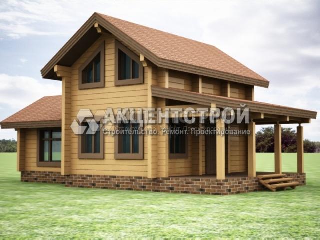 Проект дома из бруса 36