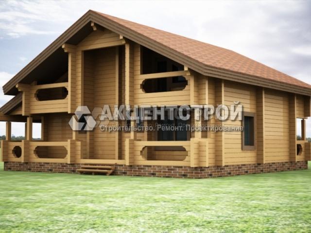 Проект дома из бруса 38