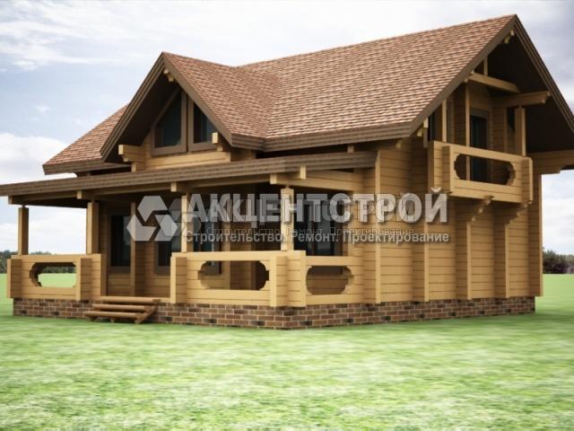 Проект дома из бруса 40