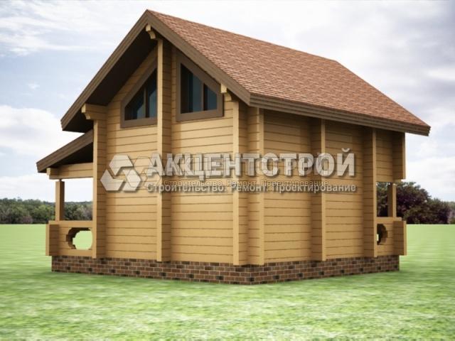 Проект дома из бруса 35