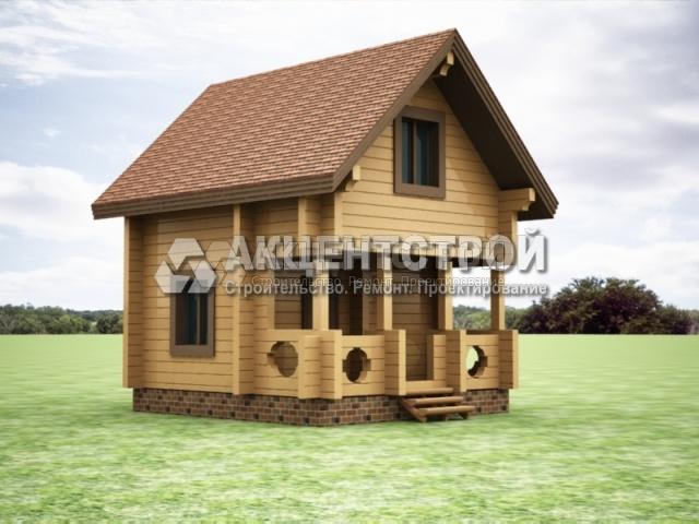 Проект дома из бруса 22