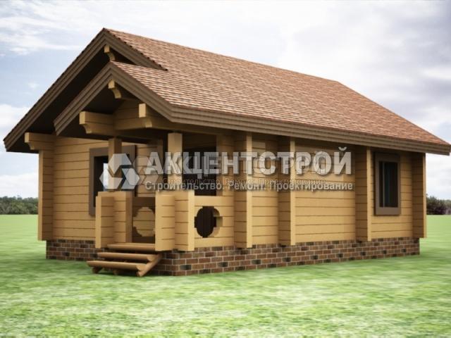 Проект дома из бруса 24