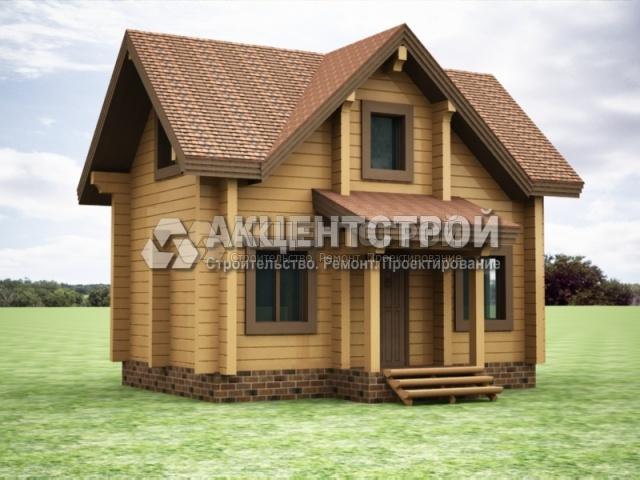 Проект дома из бруса 26