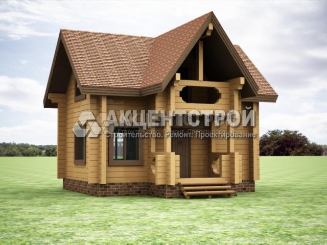 Проект дома из бруса 30