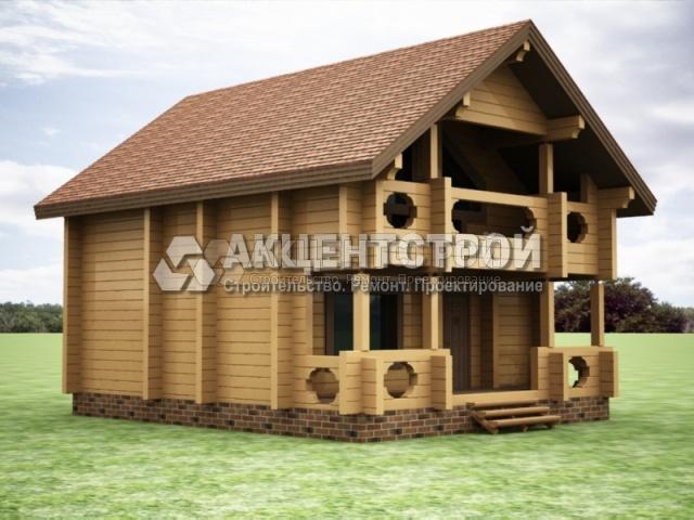 Проект дома из бруса 37