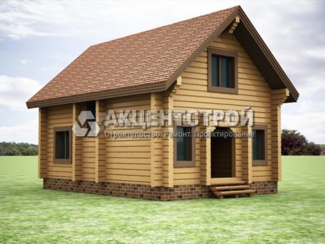 Проект дома из бруса 42