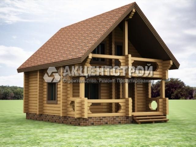 Проект дома из бруса 43
