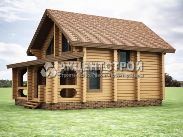 Проект дома из бруса 18