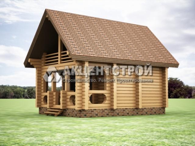 Проект дома из бруса 19