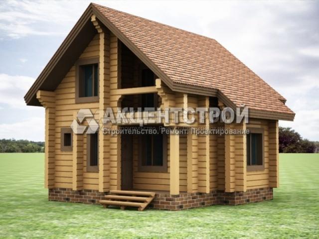 Проект дома из бруса 41