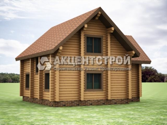 Проект дома из бруса 17