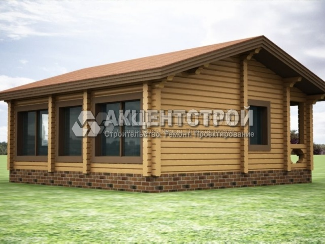 Проект дома из бруса 48