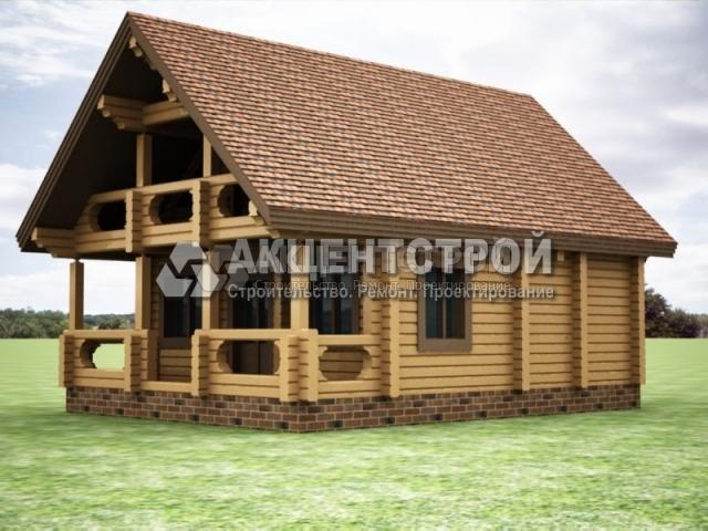 Проект дома из бруса 50