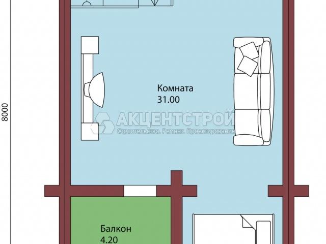 Проект дома из бруса 28