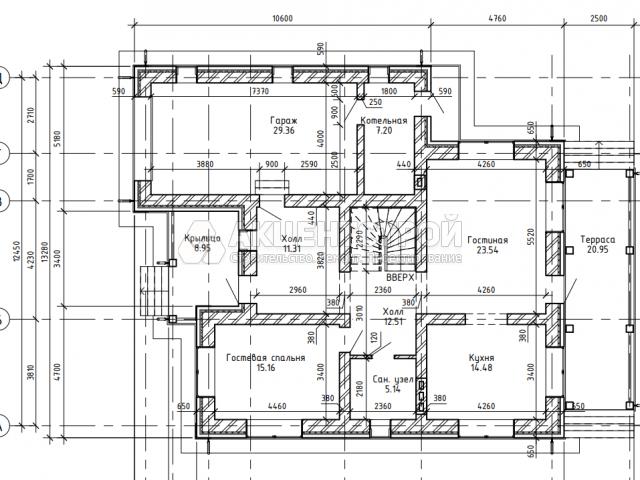 Дом из керамических блоков 165,5 кв.м.