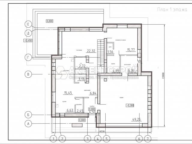 Двухэтажный дом из кирпича 311 кв.м.